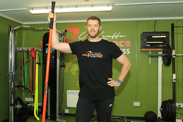 Peter O'Keeffe in his new gym in Douglas Golf Club. Picture: Niall O'Shea