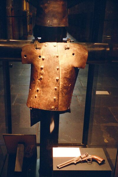 Ned Kelly's armour, which features in John Dwyer's Travel Book on Hidden Australia.
