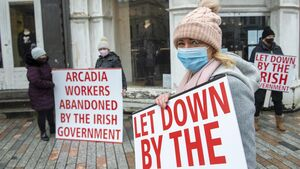 Former Arcadia staff hold protest in Cork city centre to highlight lack of retail support