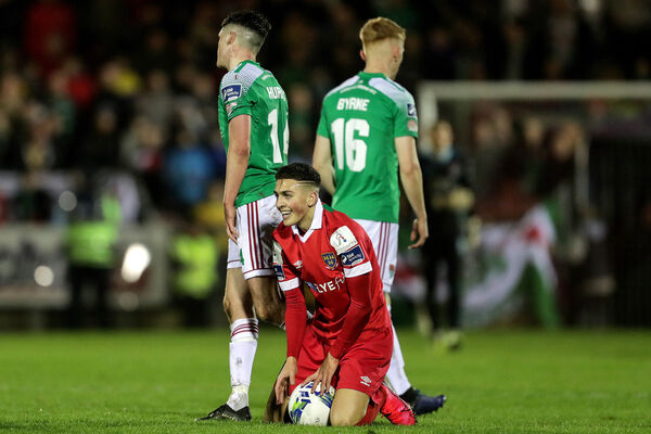 Shelbourne's Jaze Kabia after facing Cork City at Turner's Cross. Picture: INPHO/Laszlo Geczo