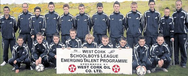 The West Cork Schoolboys League squad that competed at the 2009 SFAI Kennedy Cup in the University of Limerick.