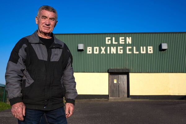 Mr Cork Boxing, Tom Kelleher, pictured outside his beloved Glen BC clubhouse in Blackpool recently. Picture: Doug Minihane
