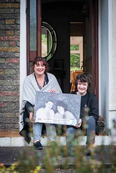 Anna Cronin and her son Bill Harrington, winners of the Fisherman's Friend and Irish Country Living Friendship Photography Competition. Photo Joleen Cronin.