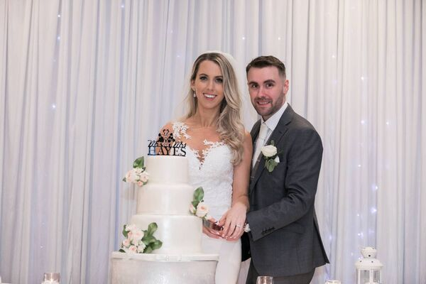 The couple had their wedding in the Killarney Oaks Hotel.