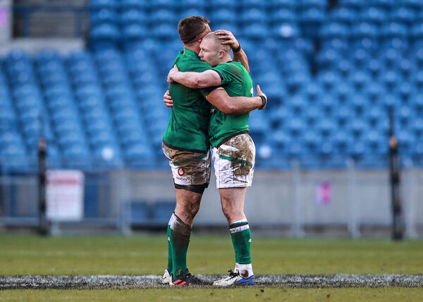 Ireland's CJ Stander and Keith Earls. Picture: INPHO/Tommy Dickson