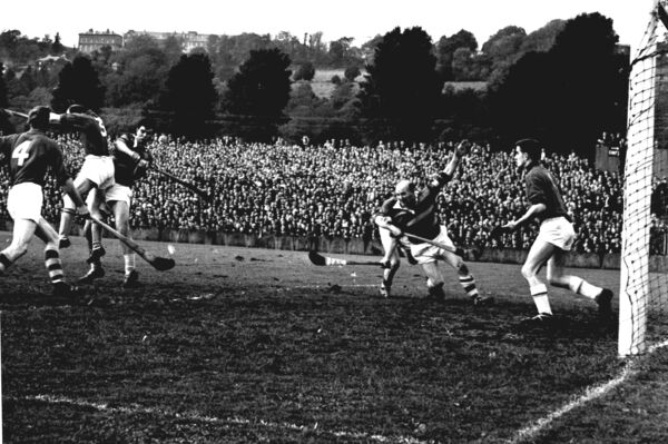 Christy Ring in action for Glen Rovers against St Finbarr's in 1964.