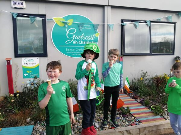 School secretary Emma said all the children enjoyed a long overdue and very special celebration of Lá Fhéile Pádraig on Tuesday.