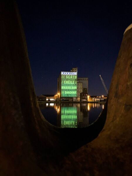 R&H Hall at Kennedy Quay was one of many locations across Cork city that was lit green in celebration of St Patrick's Day. Photo credit: Breda Graham.