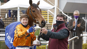Richard Condon lands the biggest win of his racing career as Heaven Help Us wins the Coral Cup
