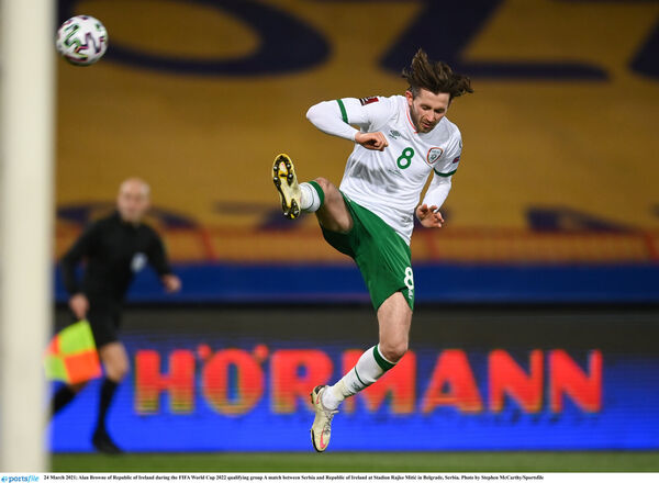Former Ringmahon Rangers midfielder Alan Browne on Republic of Ireland duty. Picture: Stephen McCarthy/Sportsfile