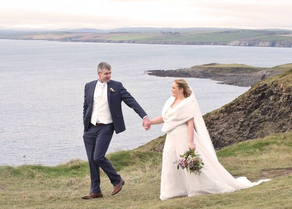 BEAUTIFUL VISTA: The couple were engaged in County Clare, in 2019, where they enjoyed their first holiday together.