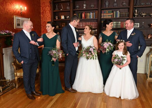 THE WEDDING PARTY: The reception was hosted in Fernhill House Hotel, Clonakilty.