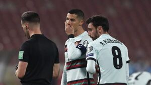 Cristiano Ronaldo storms off after being denied late winner for Portugal