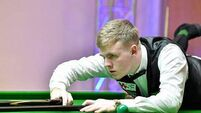 Cork's Aaron Hill begins Crucible World Snooker championship journey today