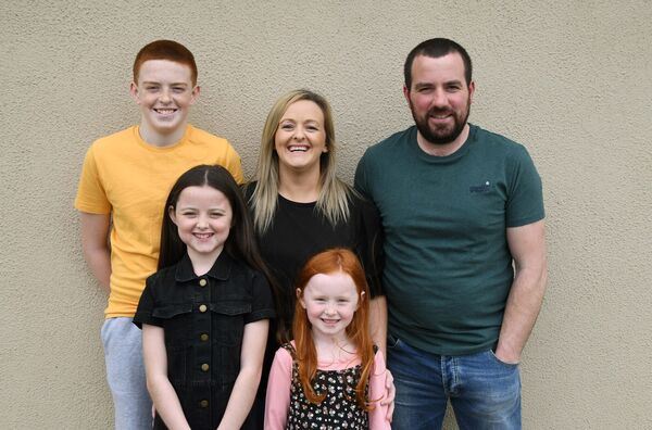 Kim, Declan, Dylan, Lexi (front left) and Ali Murphy at their home in Co. Waterford.