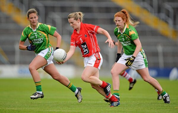 Briege Corkery runs at the Kerry defence. Picture: Brendan Moran/SPORTSFILE