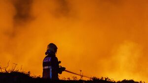Three fire crews spend nine hours battling gorse fire in Cork town