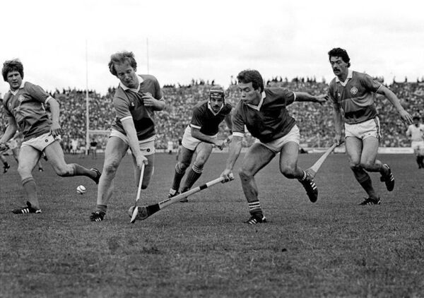 Action from the 1984 Munster senior hurling final, when Cork came from behind to stun Tipp.