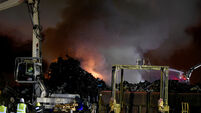 WATCH: Fire crews work through night to contain blaze at Cork city recycling centre