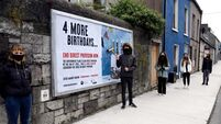 Cork students' billboard calls for direct provision to end now