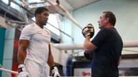Anthony Joshua could be without trainer Rob McCracken for Tyson Fury fight