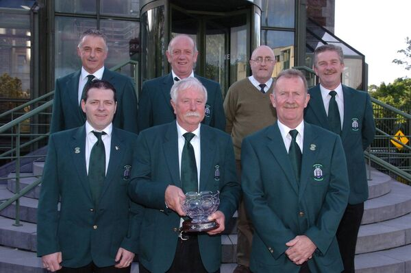 At Beamish Stout Munster Senior League Awards in 2012: Pat Quirke, Adrian Saville, Sean Lane, Richard Keating, Jim Monaher, Joe Kennedy and Ted Nolan. Picture: Larry Cummins