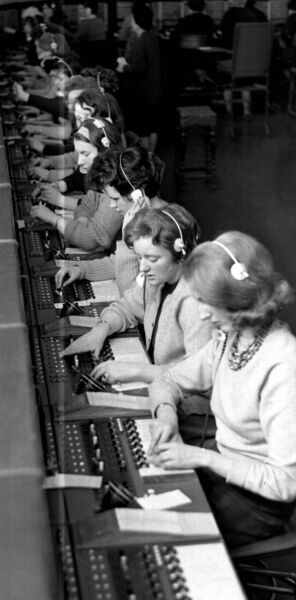 KEEPING CORK CONNECTED: Telephone operators working at the General Post Office in Cork city in February, 1965.