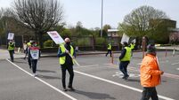 Watch: Strike action outside ESB headquarters in Cork