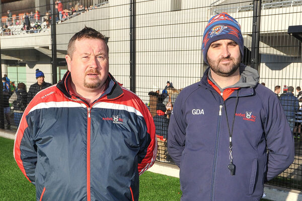 Cork GDAs Paudie O'Brien and Colm Crowley at a blitz in Páirc Uí Chaoimh. Picture: David Keane.