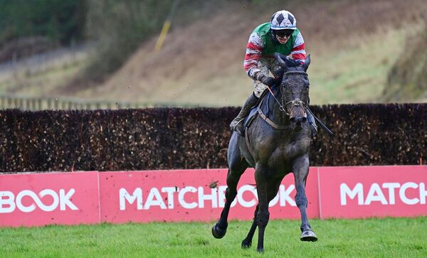 Chatham Street Lad and Darragh O'Keeffe win the Hugh McMahon Memorial Novice Steeplechase. Picture: Healy Racing.