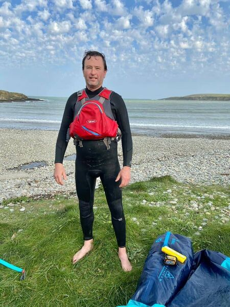 Kite Surfer, Dylan Green after carrying out a most important rescue on Friday. Pic Courtmacsherry RNLI.
