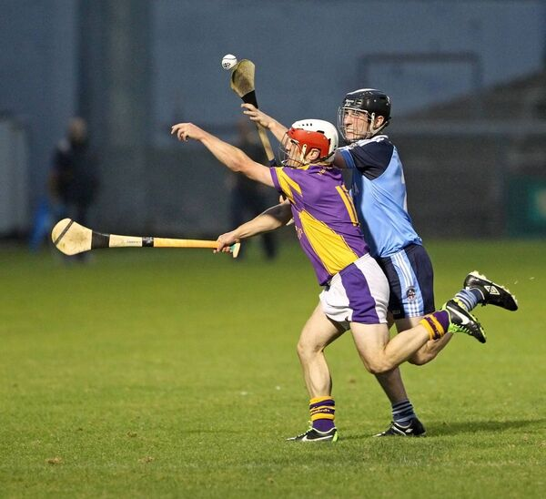 Shane Kearney in action for St Catherine's against Edward O'Dwyer, Barryroe. Picture: Jim Coughlan.
