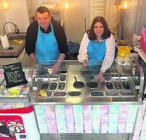 Joan and Seán Paul at their Coney Island ice cream parlour in Ballycotton