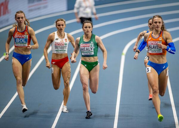 Ireland's Phil Healy competing in the Women's 400m final in March. Picture: INPHO/Morgan Treacy