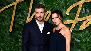 Victoria Beckham sends football-themed birthday message to husband David