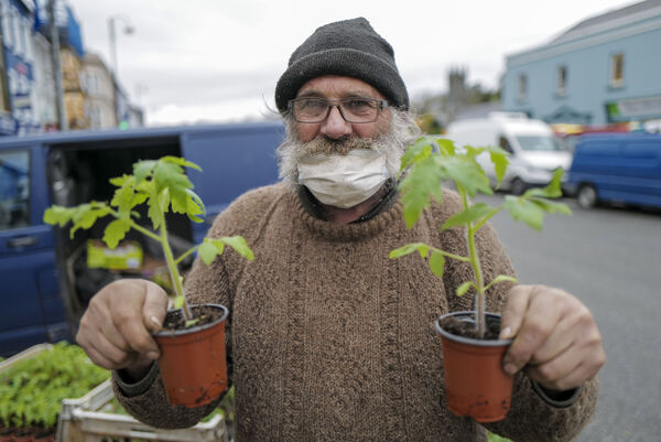 Paul of Pauls Plants at the Farmers Market in Bantry, West Cork. Picture Dan Linehan