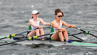 Aoife Casey and Margaret Cremen on the way to qualifying for the semi-final 9/4/2021