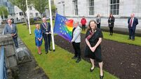 Cork kicks off LGBTI+ Awareness Week with the raising of a new rainbow flag